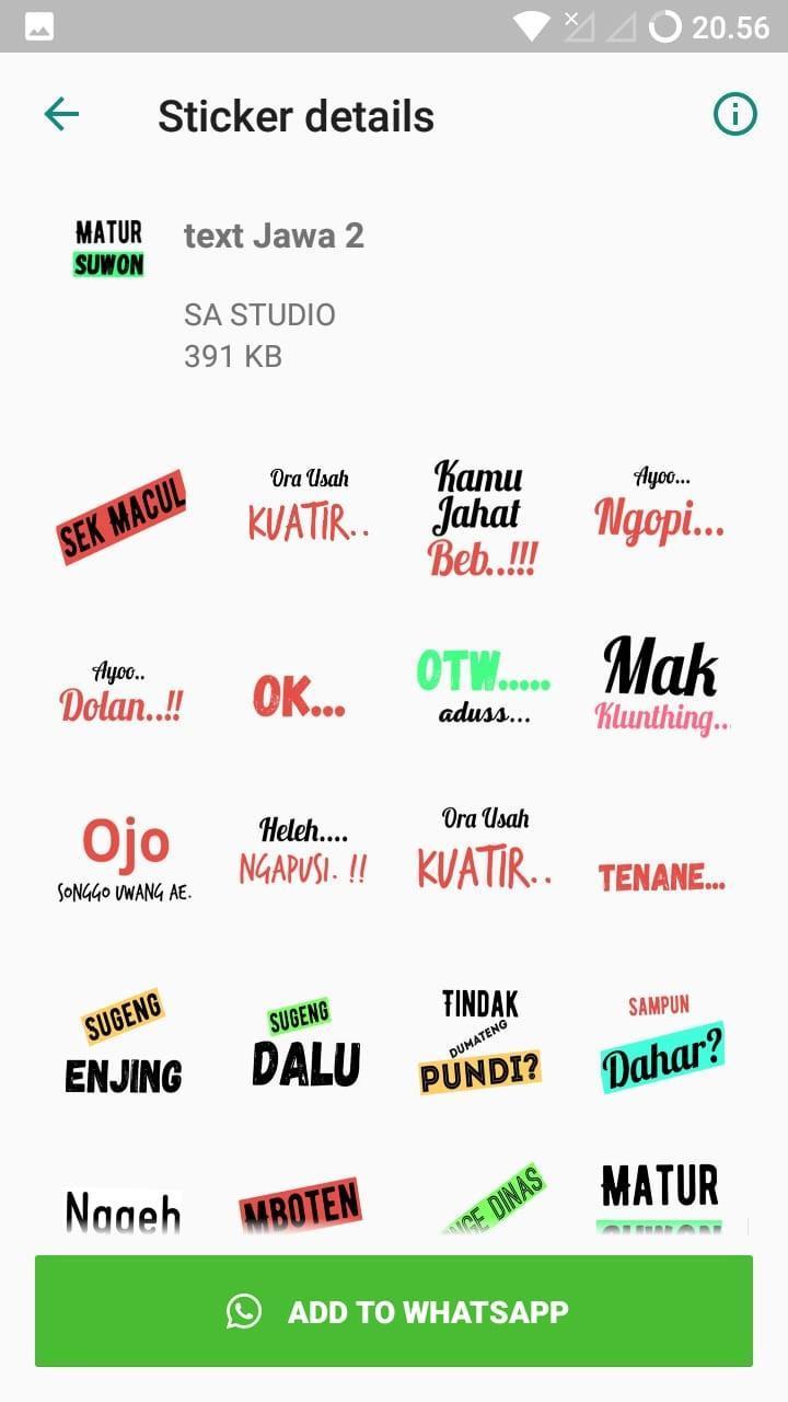 Stiker Wa Bahasa Jawa For Android Apk Download