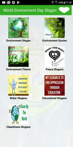 Slogan on environment cleanliness
