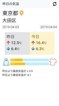 昨日の気温 poster