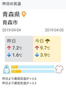 昨日の気温 screenshot 1
