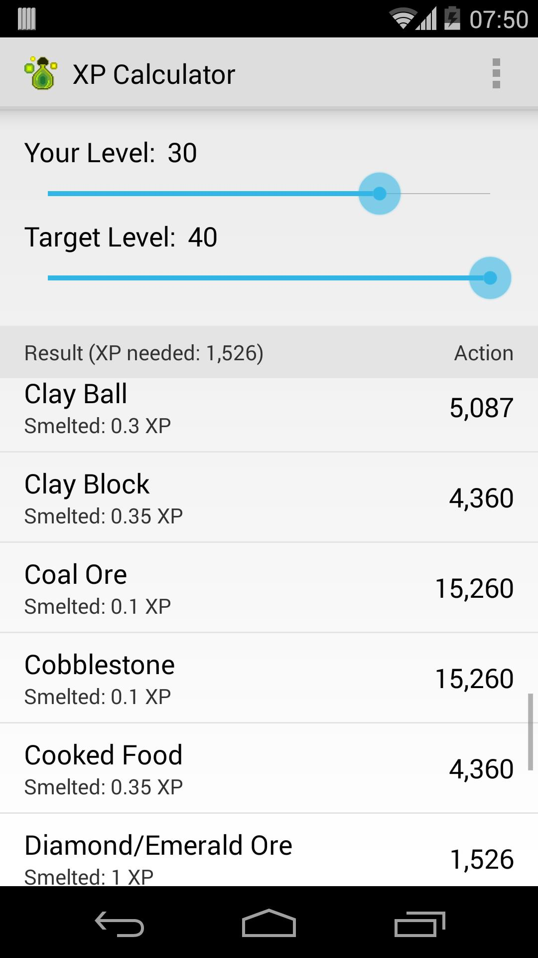 XP Calculator for Minecraft for Android - APK Download