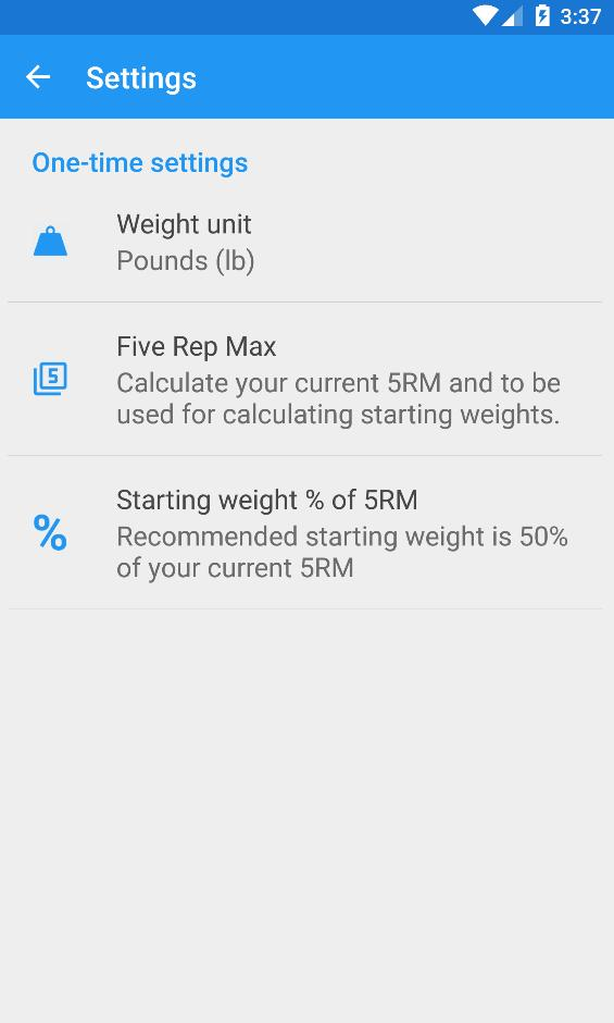 5x5 Workout Logger for Android - APK Download
