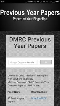 Question Papers for DMRC poster