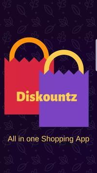 Diskountz - All In One Shopping App poster