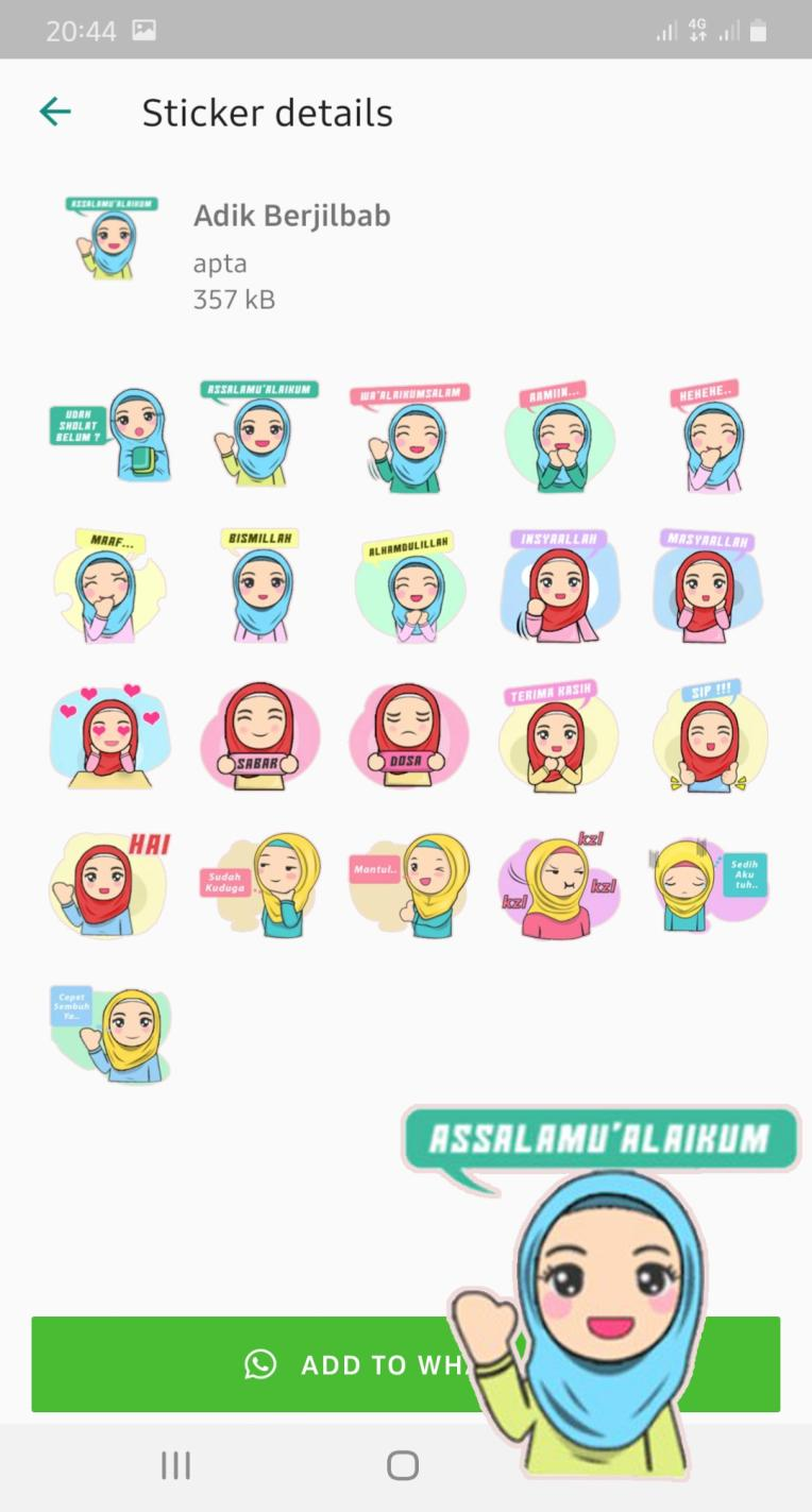 Stiker Muslimah Berhijab Wastickerapps For Android Apk