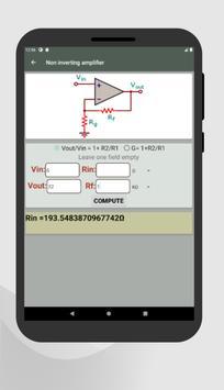 Electrocalc - electronic circuit calculator screenshot 16
