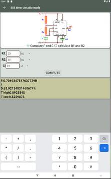 Electrocal - electronics circuit calculator imagem de tela 16