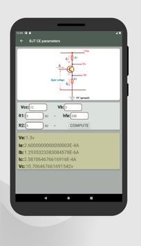 Electrocalc - electronic circuit calculator screenshot 17