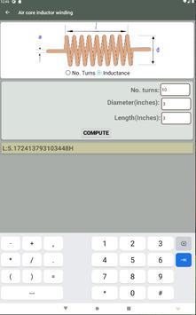 Electrocal - electronics circuit calculator imagem de tela 13