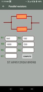 Electrocalc - electronic circuit calculator screenshot 3