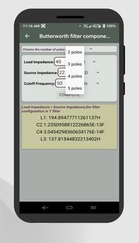 Electrocal - electronics circuit calculator imagem de tela 3