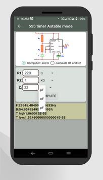 Electrocal - electronics circuit calculator imagem de tela 5