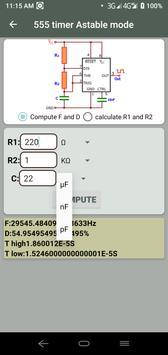 Electrocalc - electronic circuit calculator screenshot 6