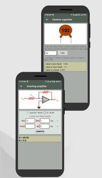 Electrocal - electronics circuit calculator imagem de tela 7