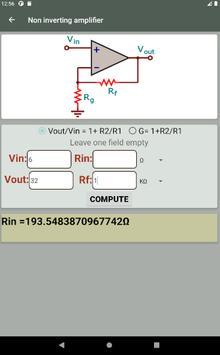 Electrocalc - electronic circuit calculator screenshot 9