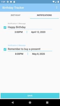 Birthday Tracker screenshot 1