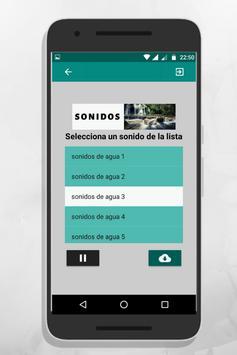 Sonidos de agua screenshot 2