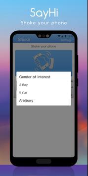 Agitando Telefone em SayHi! imagem de tela 3