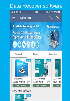 Sayprint Data Recovery Marketplace poster