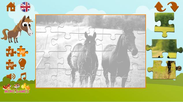 Puzzles about horses screenshot 12