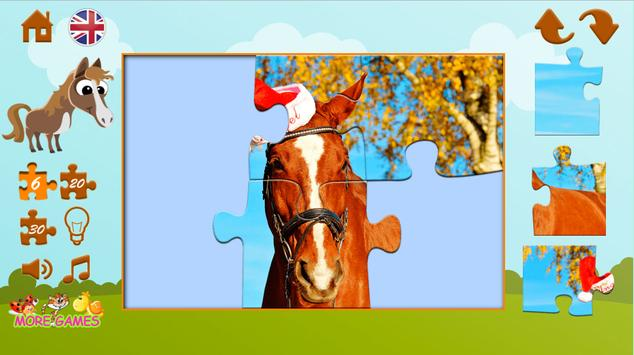 Puzzles about horses screenshot 2