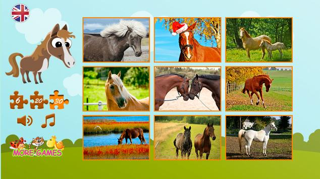 Puzzles about horses screenshot 9