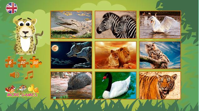 Puzzles: wild animals screenshot 1
