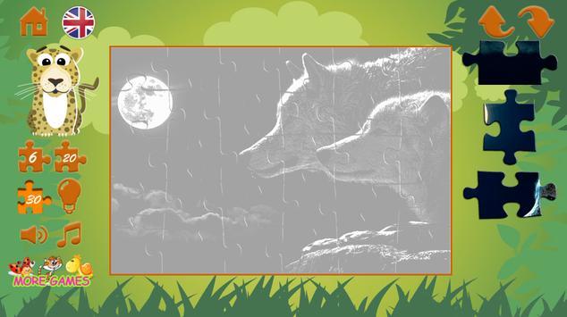 Puzzles: wild animals screenshot 22