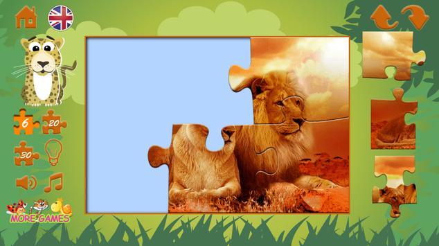 Puzzles: wild animals screenshot 2