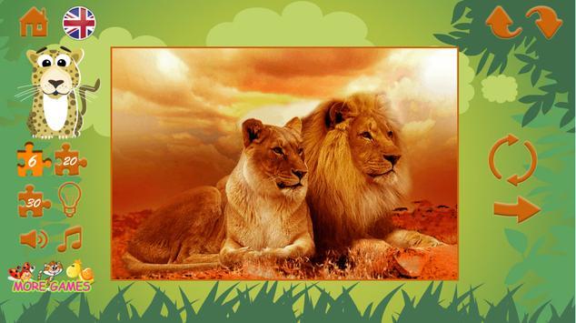 Puzzles: wild animals screenshot 3