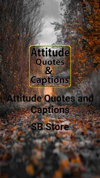 Attitude Quotes and Captions poster