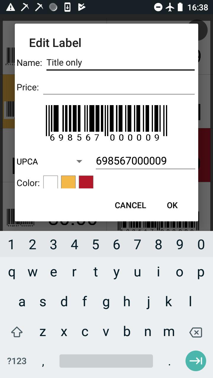 Barcode Generator - create labels with PDF export for