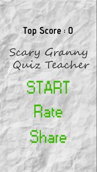 Scary Granny Quiz Teacher poster