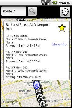 TorontoBusMap screenshot 1