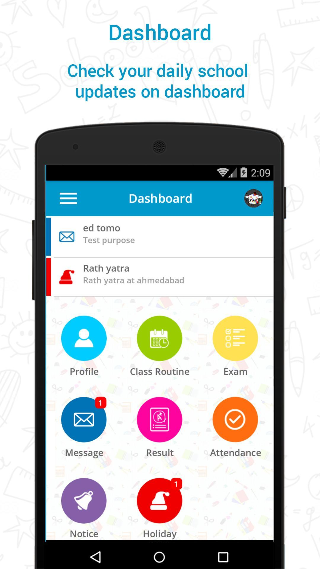 School Management System Mobile App for Wordpress for