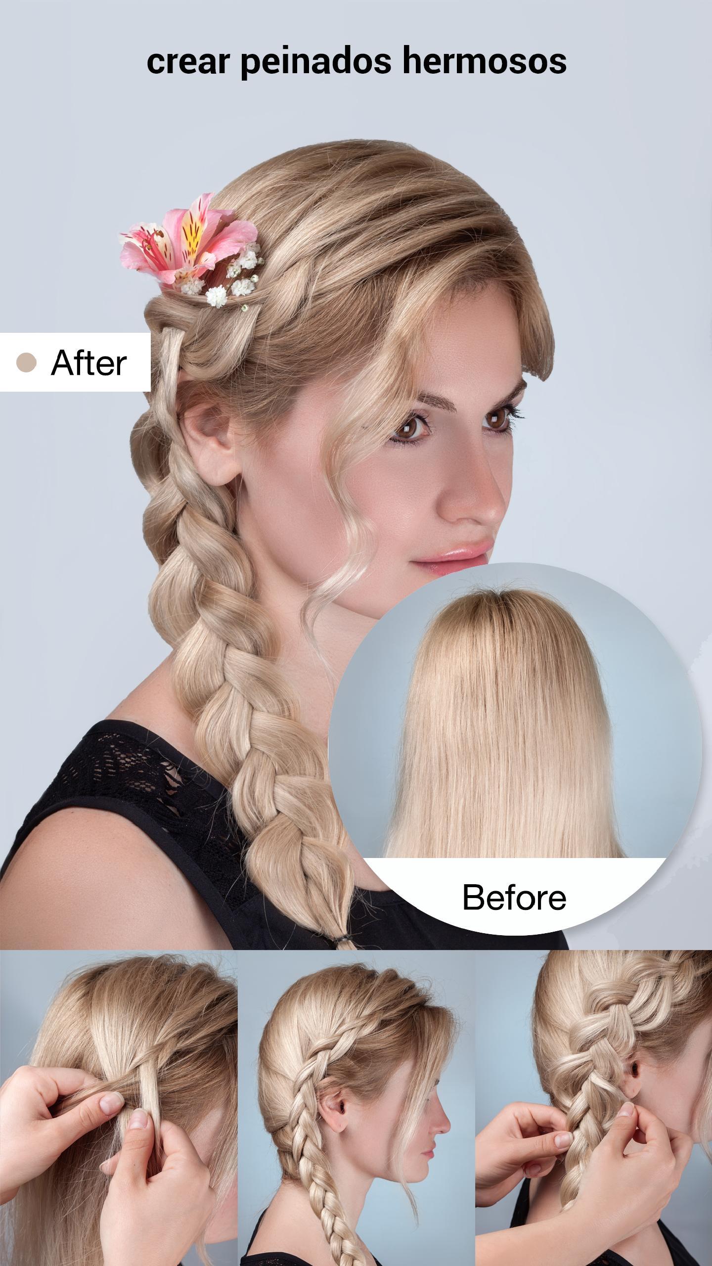 Diferentes versiones peinados faciles y rapidos paso a paso Imagen de cortes de pelo estilo - Peinados Faciles Y Bonitos Paso A Paso for Android - APK ...