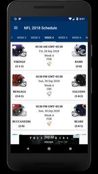 Football NFL Schedule & Scores screenshot 1