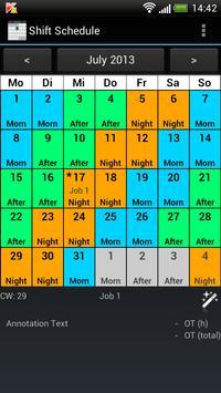 Shift Calendar (Shift Roster) poster