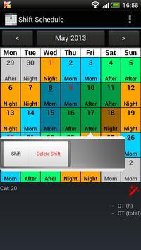 Shift Calendar (Shift Roster) screenshot 1