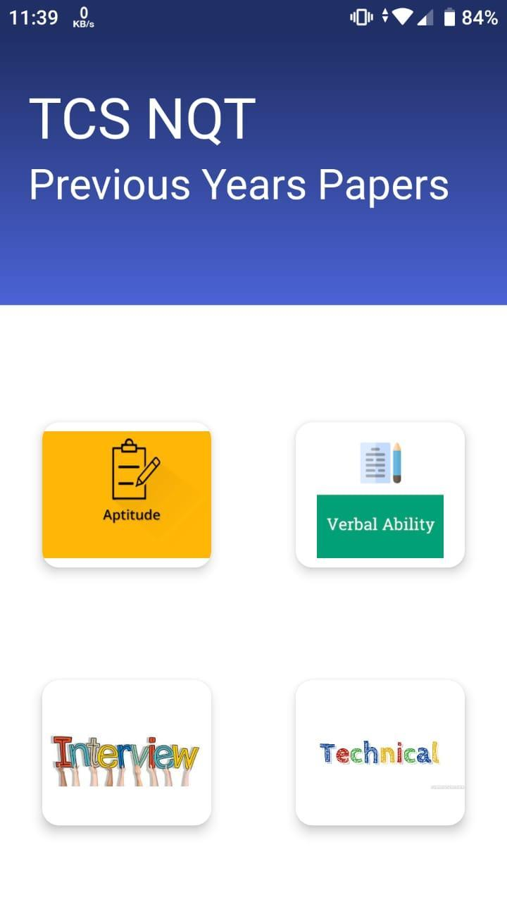 TCS NQT Papers for Android - APK Download