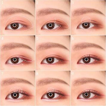 Popular Korean eye makeup poster