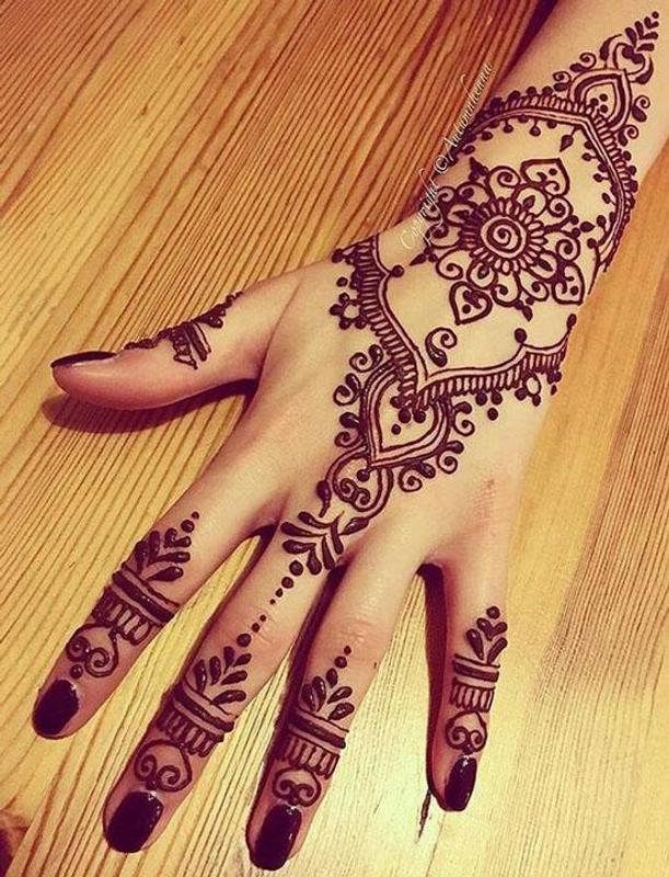 Desain Henna Sederhana