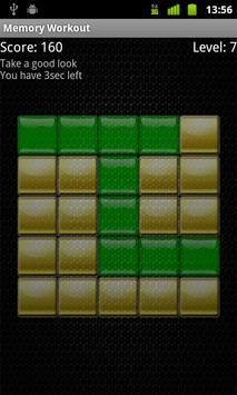 Memory Workout Free screenshot 1