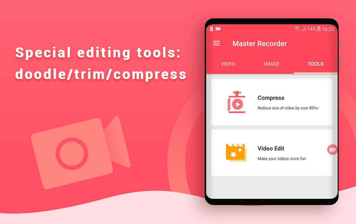 Master Screen Recorder with Audio – Video Editor for Android