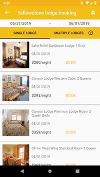 Yellowstone Lodge Booking screenshot 1