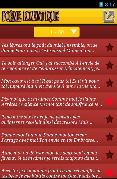 Poème Romantique En Français For Android Apk Download