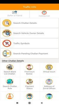 Delhi Traffic Info - Find Vehicle Challan screenshot 5