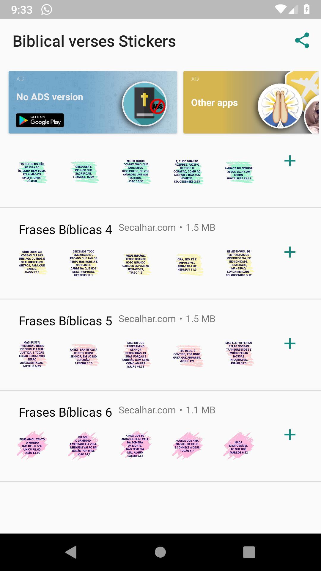 Figurinhas De Frases Bíblicas Para Whatsapp Para Android