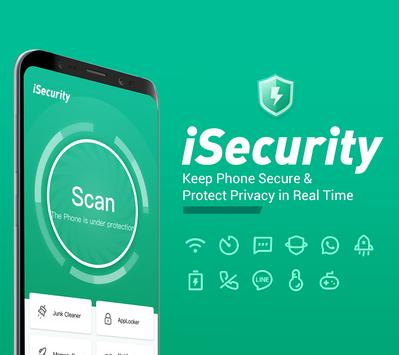 Poster Antivirus, Virus Cleaner, Super Clean - iSecurity
