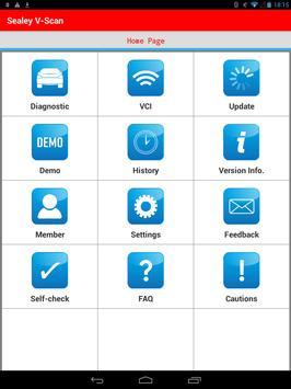 Sealey V-scan screenshot 1